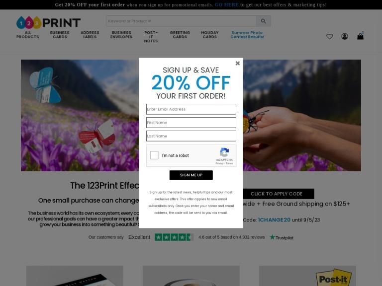 123print.com screenshot