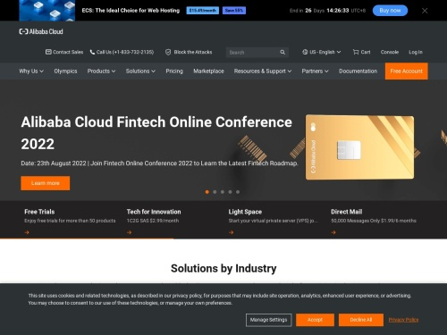 An integrated suite of cloud products, services and solutions | Alibaba Cloud