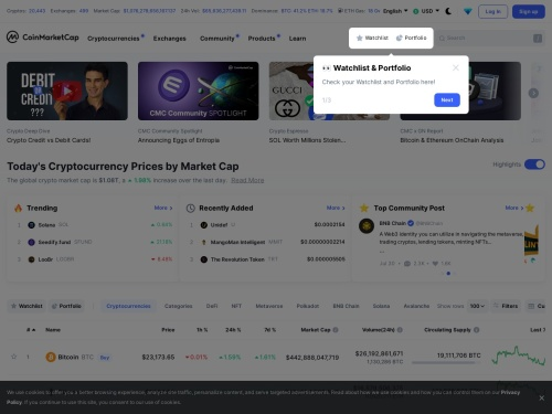 Cryptocurrency Market Capitalizations - Page 1 of 16 | CoinMarketCap