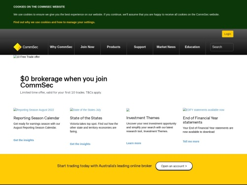 CommSec - Online Share Trading & Investing. Start trading today with Australia's leading online broker.
