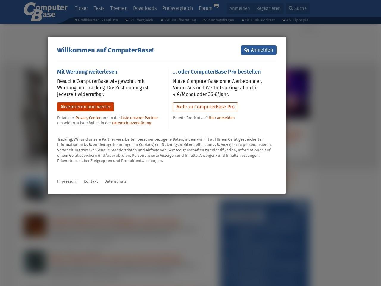Webthumbnail computerbase.de