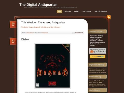 The Digital Antiquarian