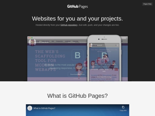 GitHub Pages | Websites for you and your projects, hosted directly from your GitHub repository. Just edit, push, and your changes are live.