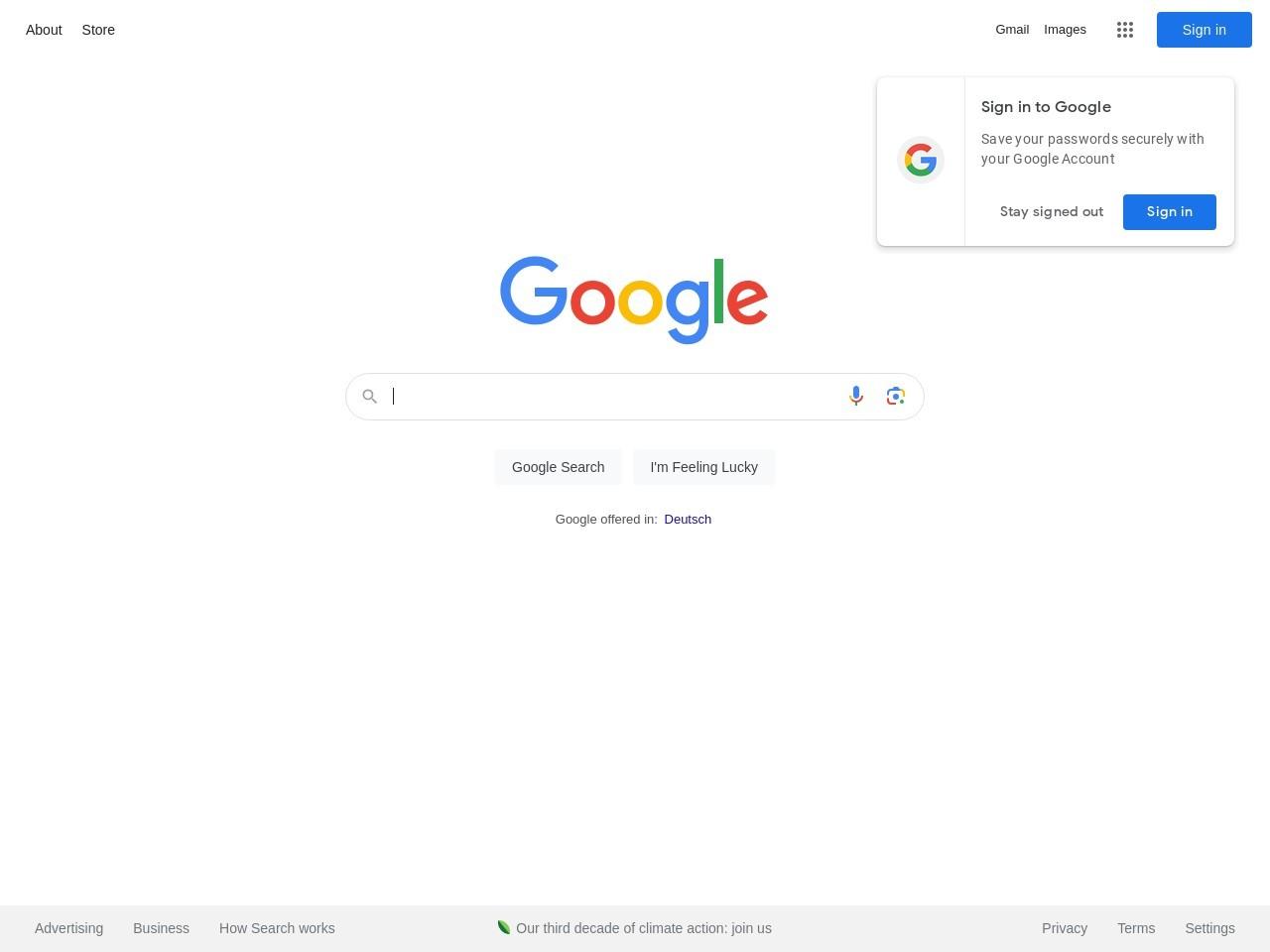 Webthumbnail google.de