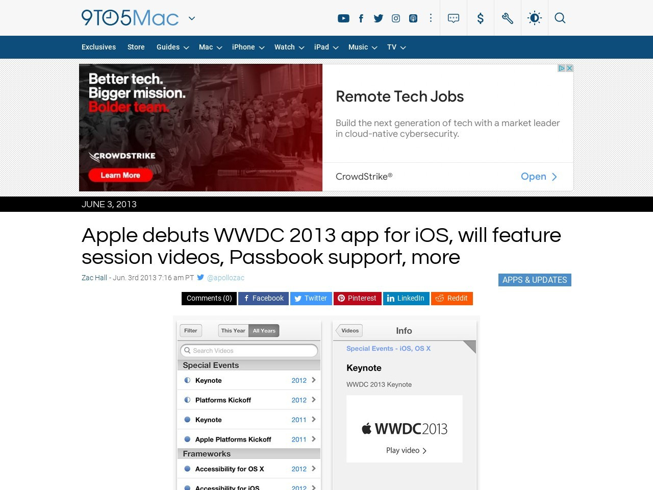 Apple debuts WWDC 2013 app for iOS, will feature session videos …