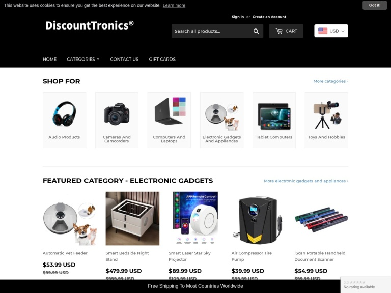 DiscountTronics screenshot