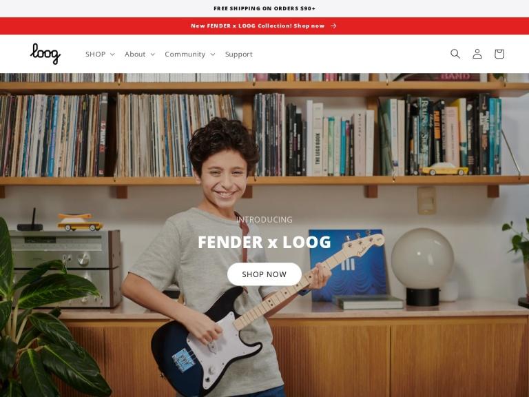 Loog Guitars screenshot