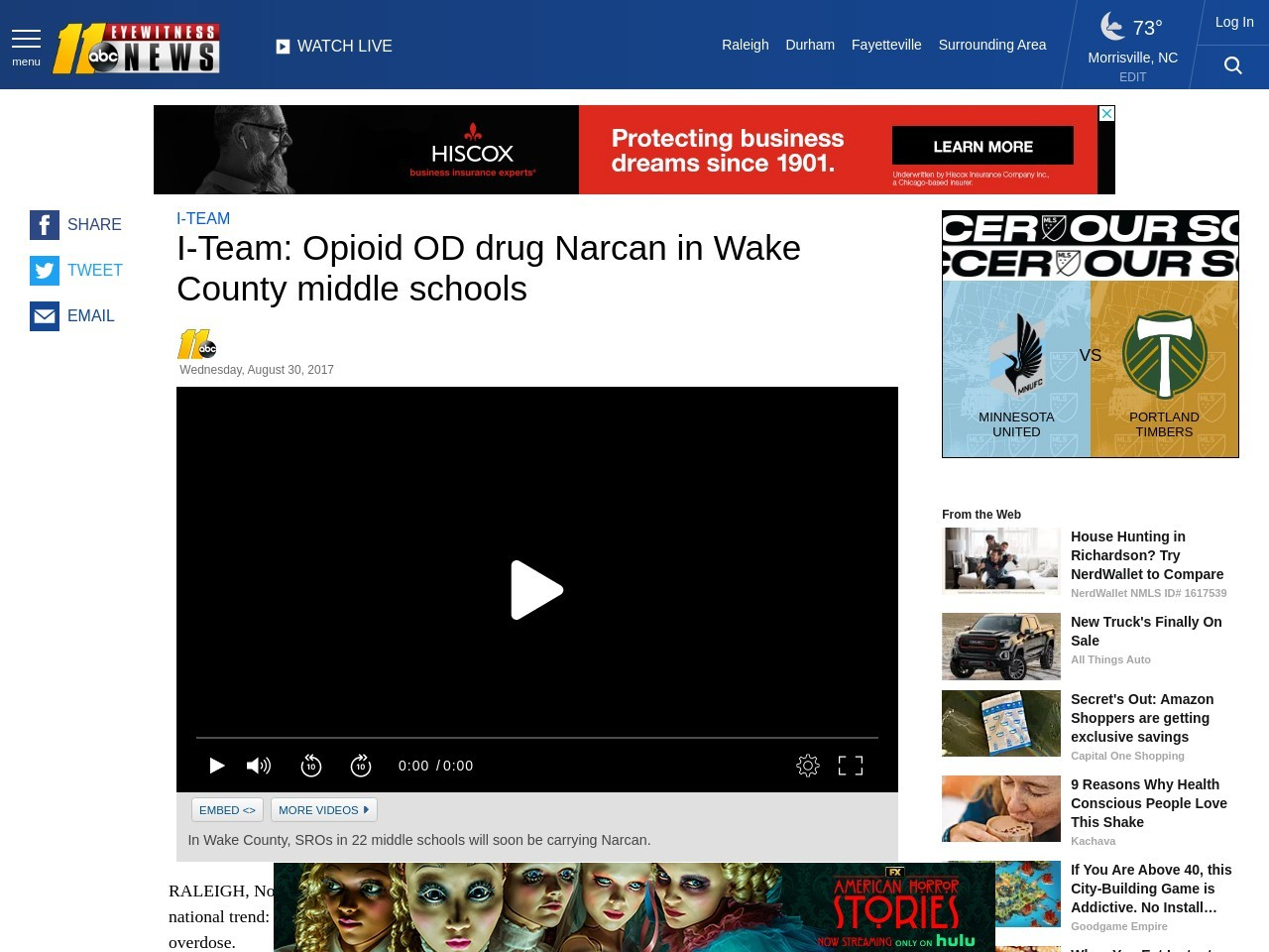 I-Team: Opioid OD drug Narcan in Wake County middle schools