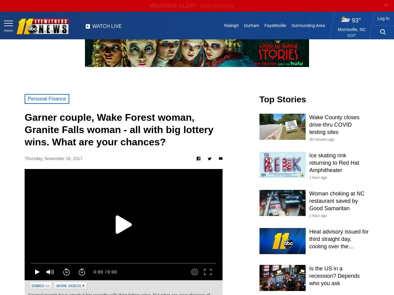 Garner couple, Wake Forest woman, Granite Falls woman – all with big lottery wins. What are your chances?