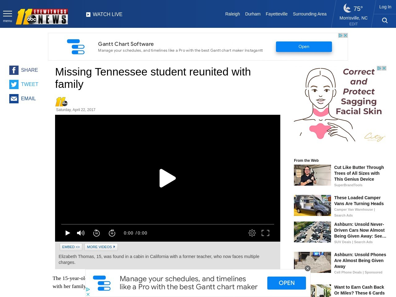 Missing Tennessee student reunited with family