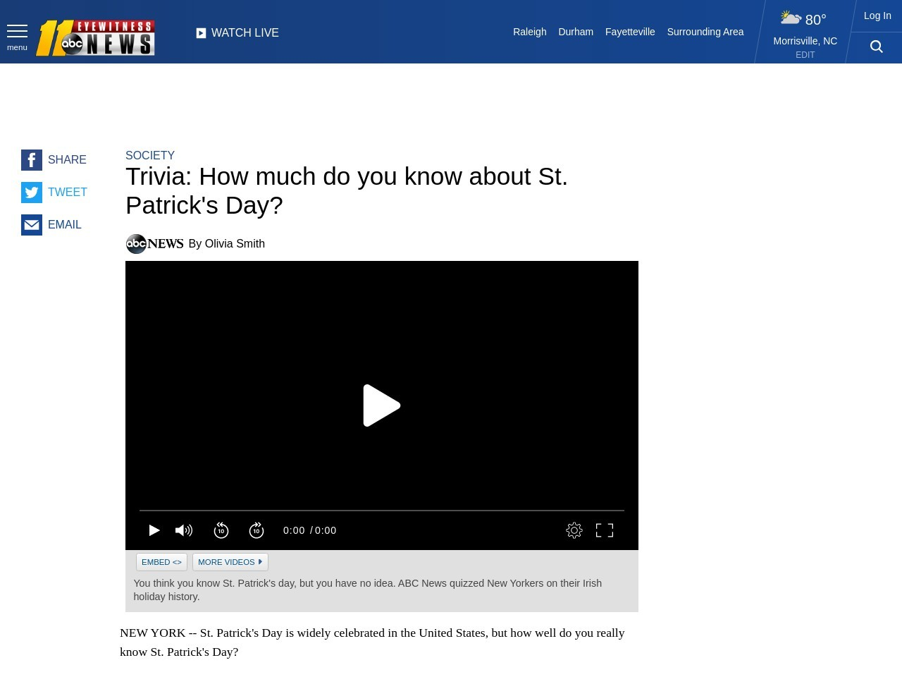 Trivia: How much do you know about St. Patrick's Day?