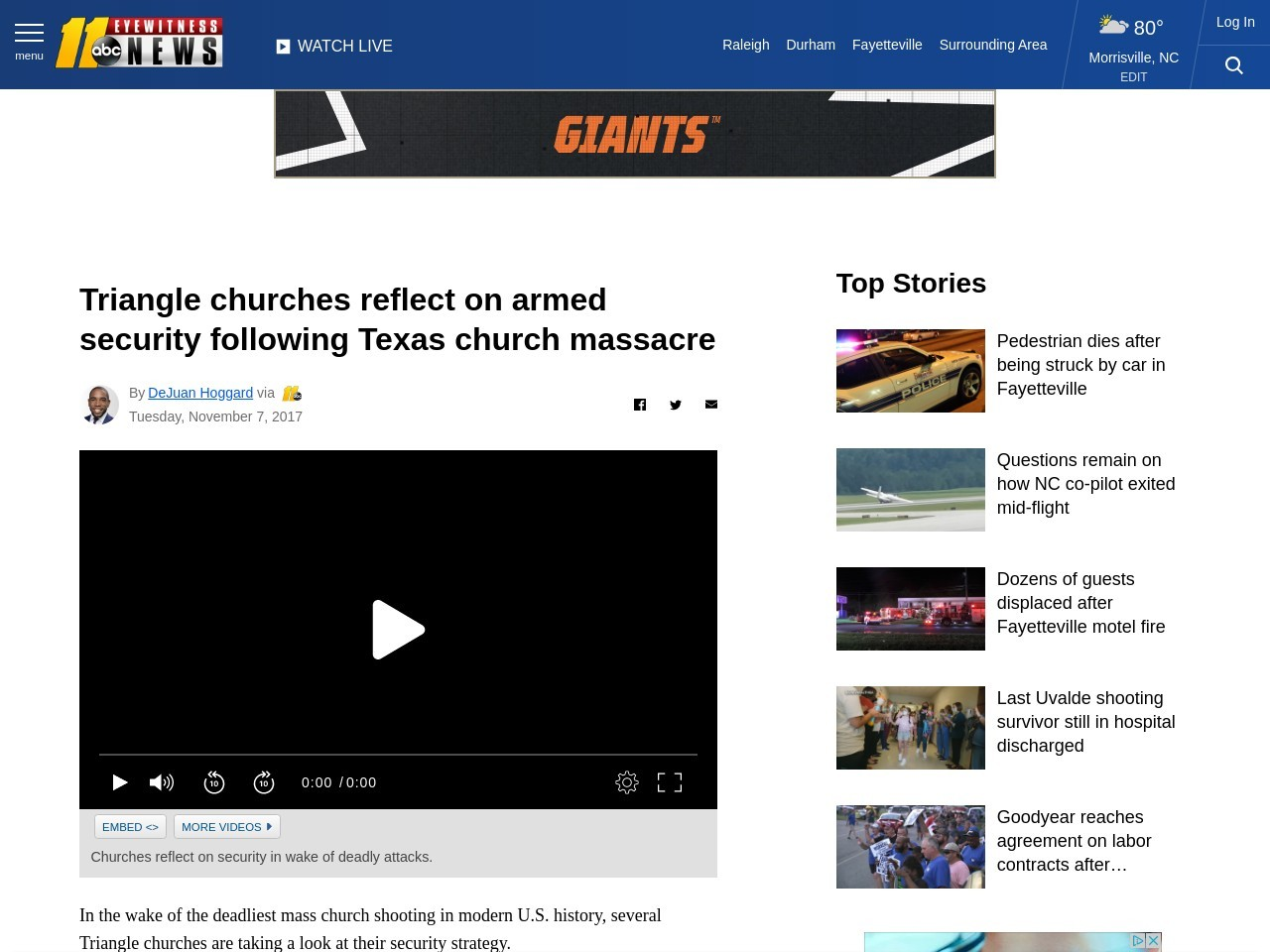 Triangle churches reflect on armed security following Texas church massacre