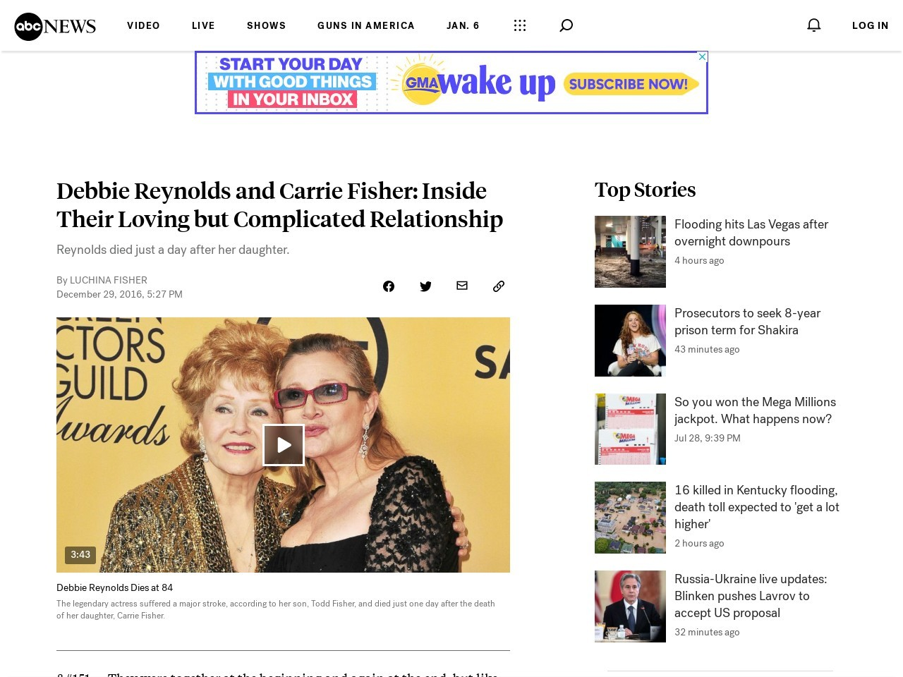 Debbie Reynolds and Carrie Fisher: Inside Their Loving but Complicated Relationship