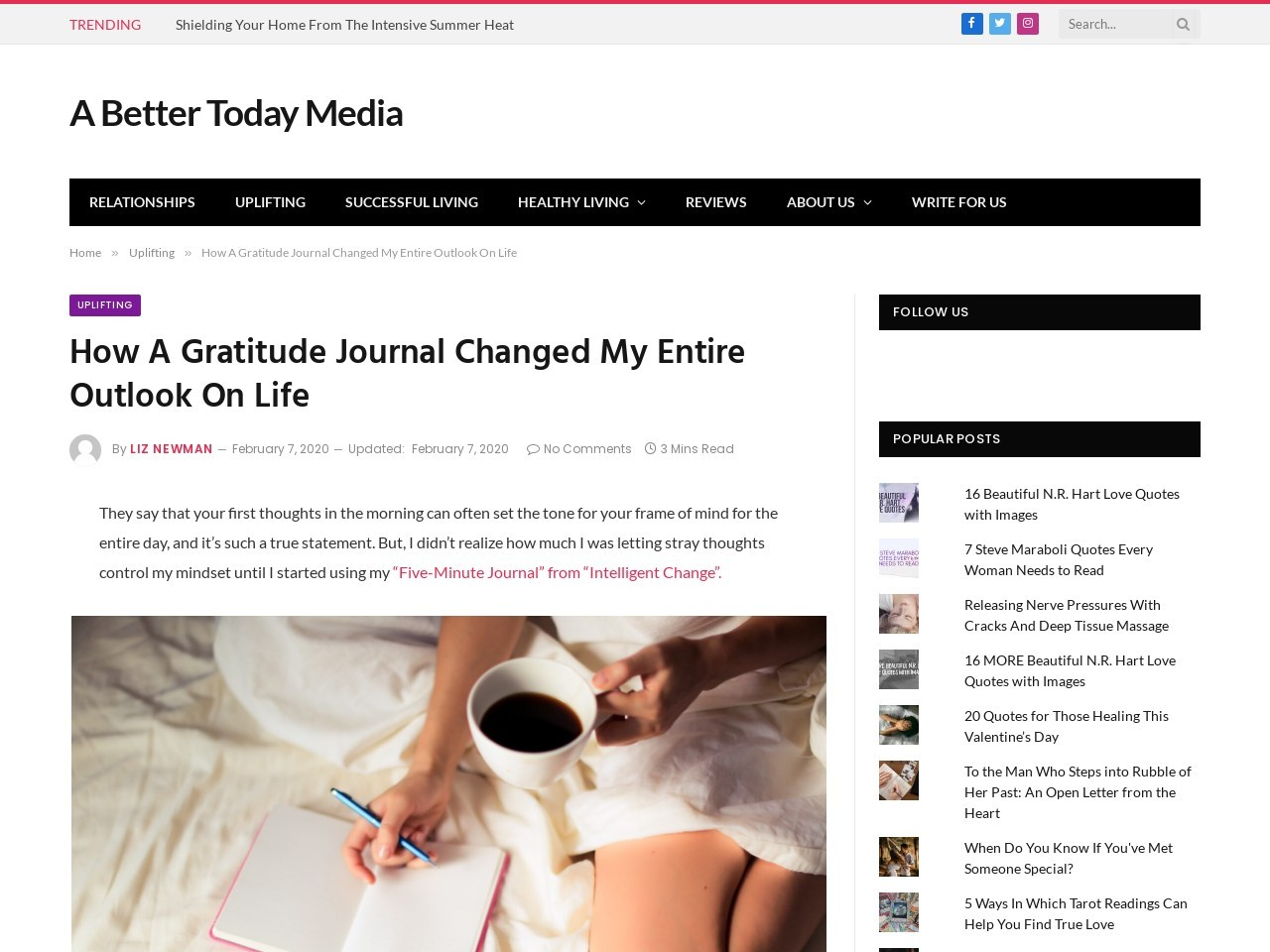 How A Gratitude Journal Changed My Entire Outlook On Life