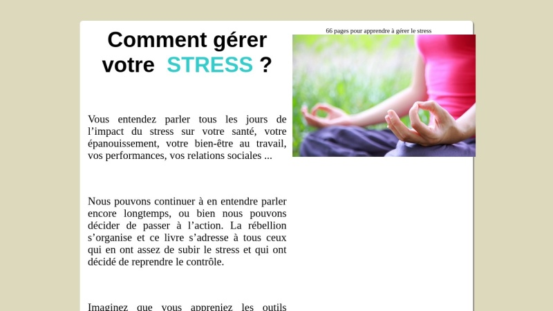 ebook comment gerer votre stress ?