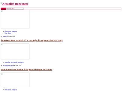 Actualité Rencontre : L'actualité des sites de rencontres
