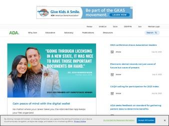 ada.org screenshot