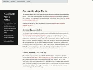 Screenshot of Accessible Mega Menu