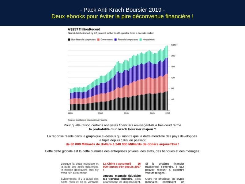 pack : anti krach boursier 2019 (2 ebooks)