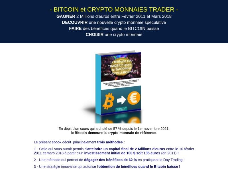 bitcoin et crypto monnaies trader