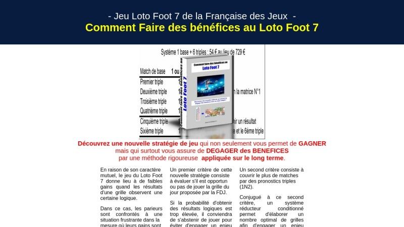 comment faire des benefices au loto foot 7