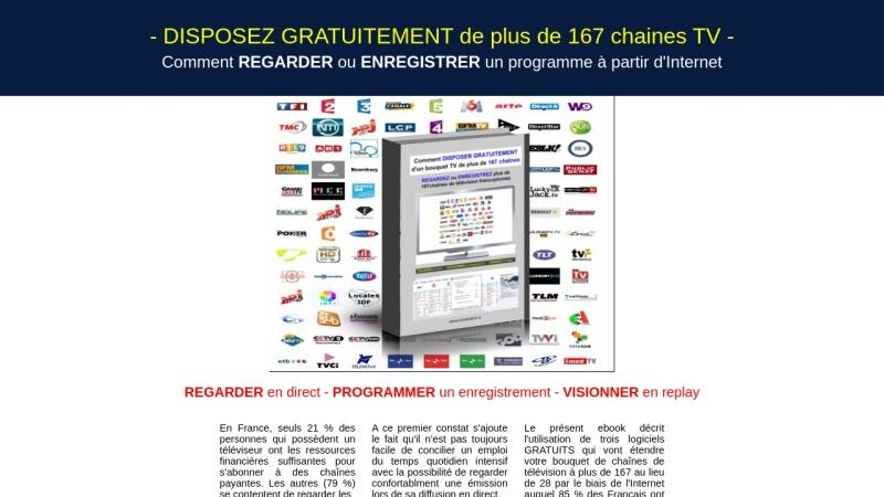 disposez gratuitement de plus de 167 chaines tv !