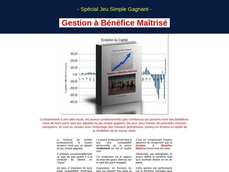 turf : gbm : gestion a benefice maitrise