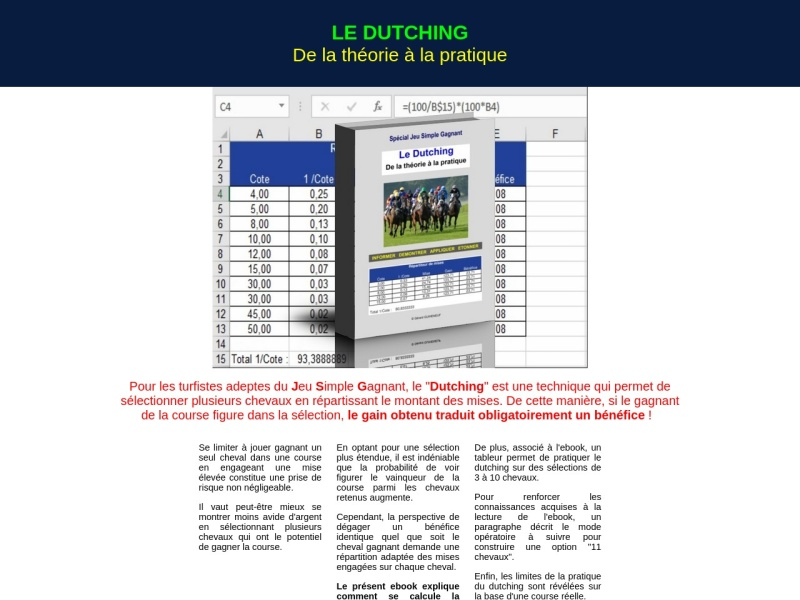 le dutching : de la theorie a la pratique