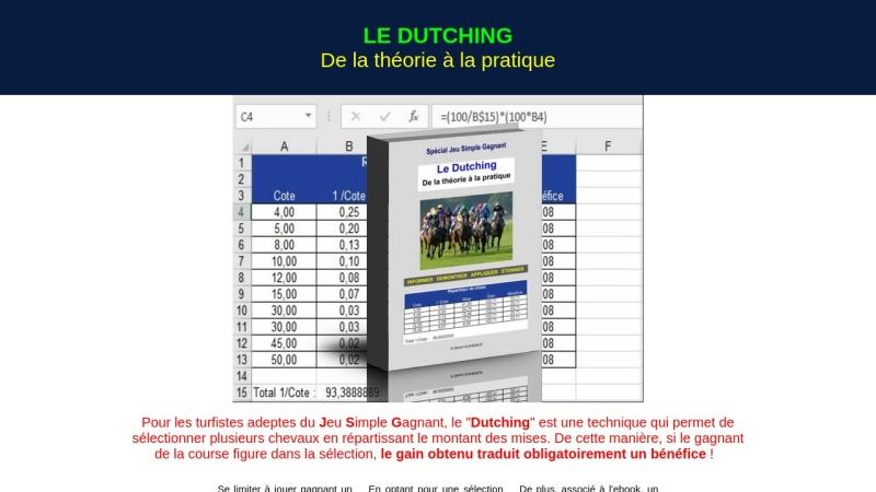 le dutching : de la theorie a la pratique
