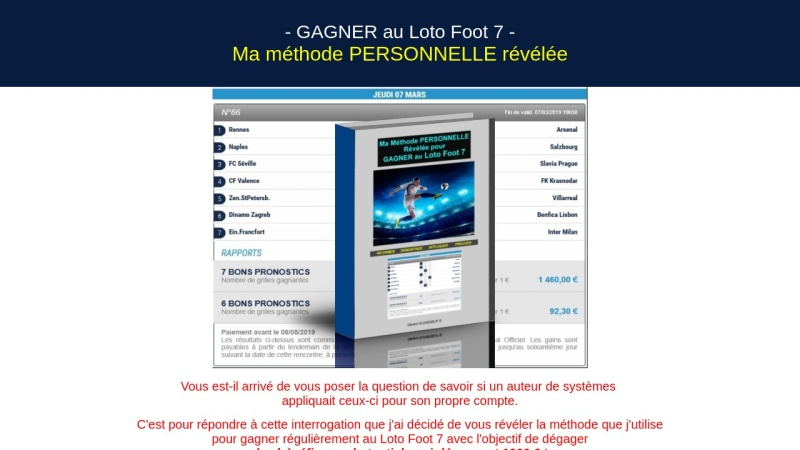loto foot 7 : ma methode personnelle revelee !