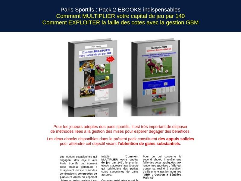 paris sportifs : pack 2 ebooks indispensables !