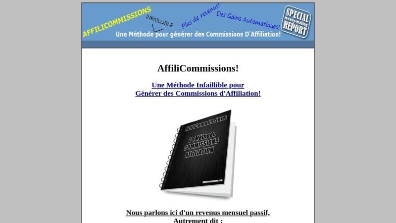 affilicommissions - commissions d'affiliation!