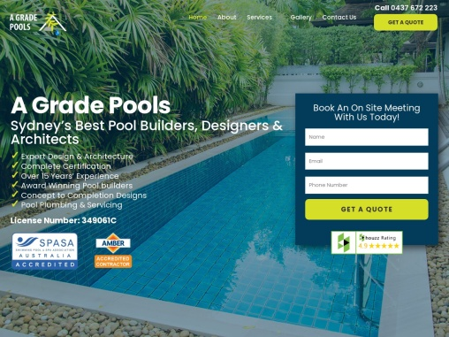 A Grade Pools Sydney's Best Pool Builders, Designers & Architects