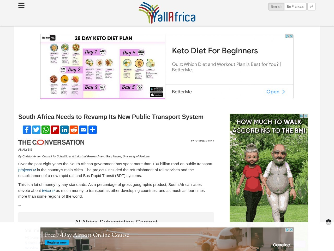South Africa: South Africa Needs to Revamp Its New Public Transport System