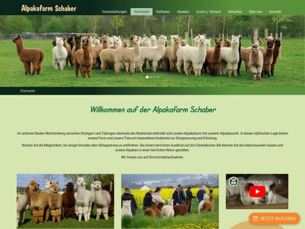 Screenshot von Alpakafarm Schaber - Nürtingen
