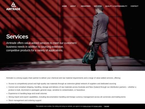 Chemical supplier Australia   Amtrade International Pty Ltd