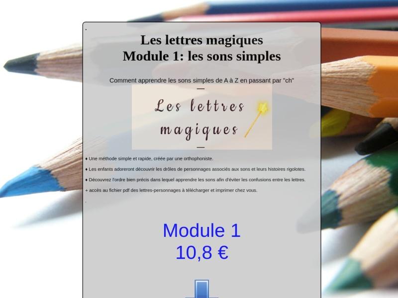 module 1: les sons simples