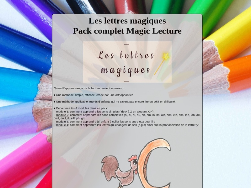 pack complet magic lecture