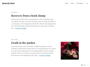 Butterfly Mind using the Oulipo WordPress Theme
