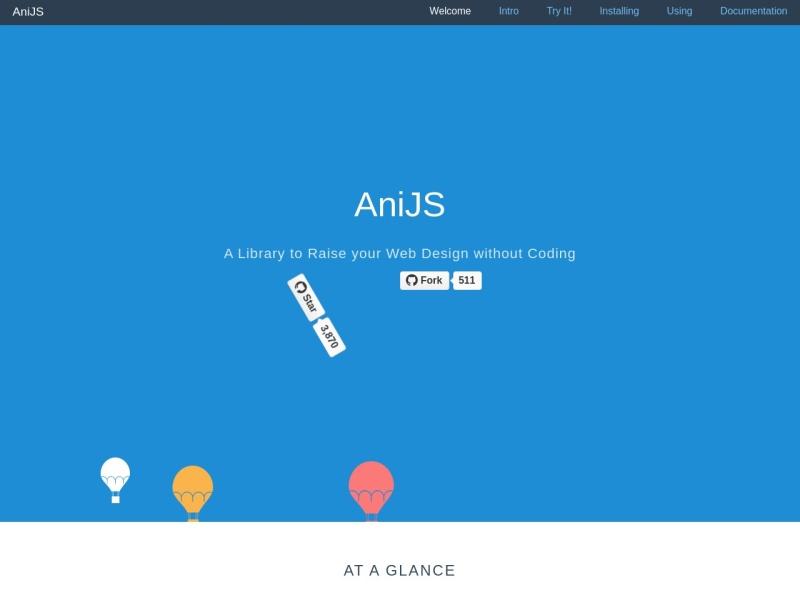 【簡単にウェブサイトにアニメーションを付ける】AniJS, A Library to Raise your Web Design without Coding