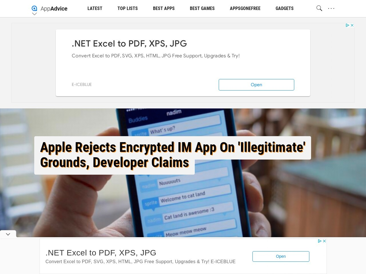 Apple Rejects Encrypted IM App On 'Illegitimate' Grounds …