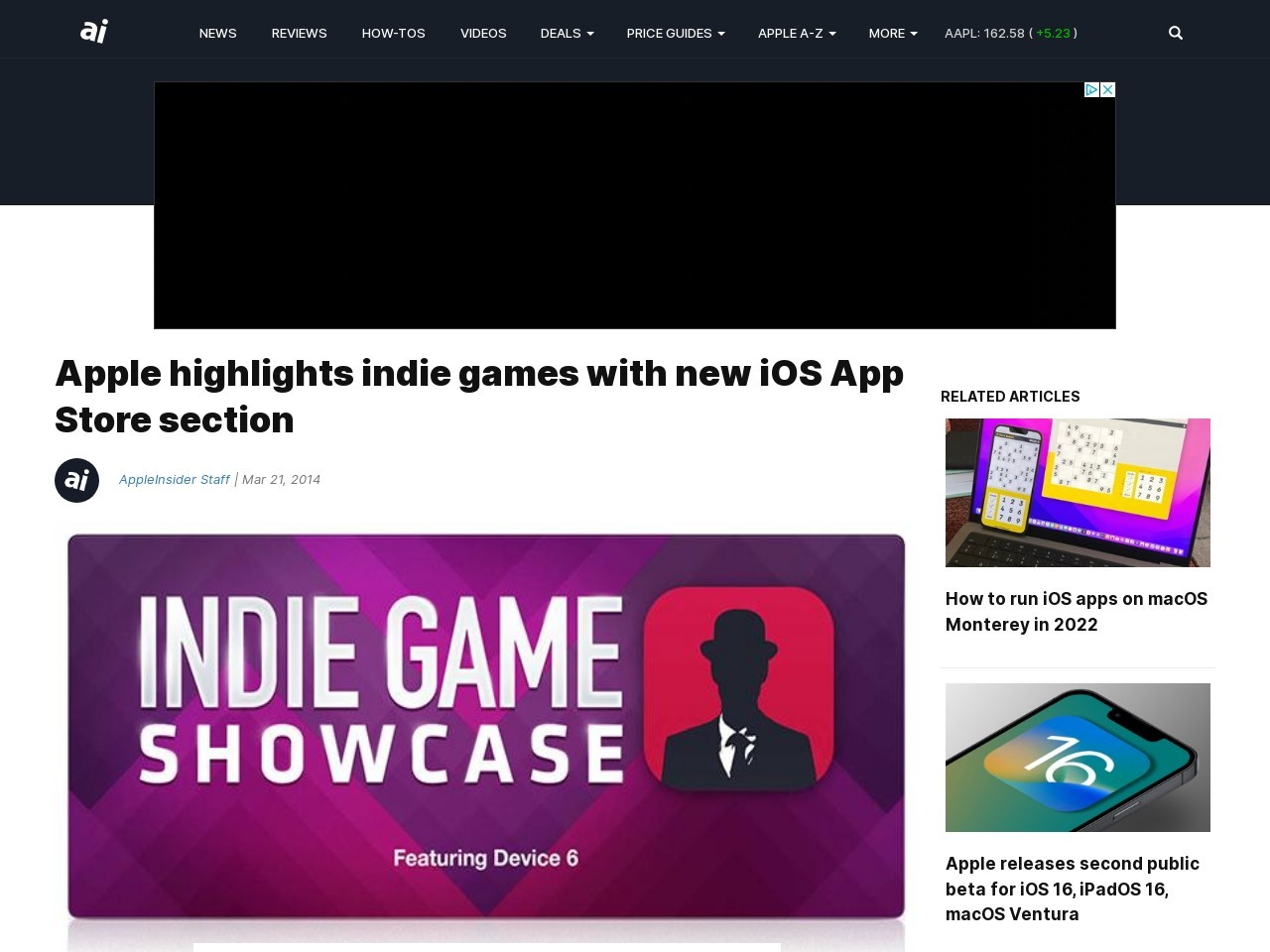 Apple highlights indie games with new iOS App Store section