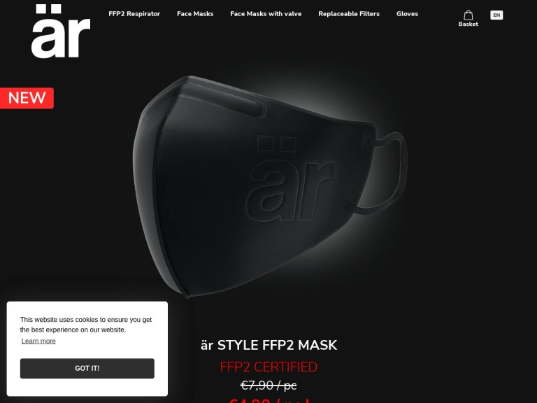 Arfacemask Com screenshot