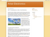 LED TV manufacturers in India : Arise Electronics