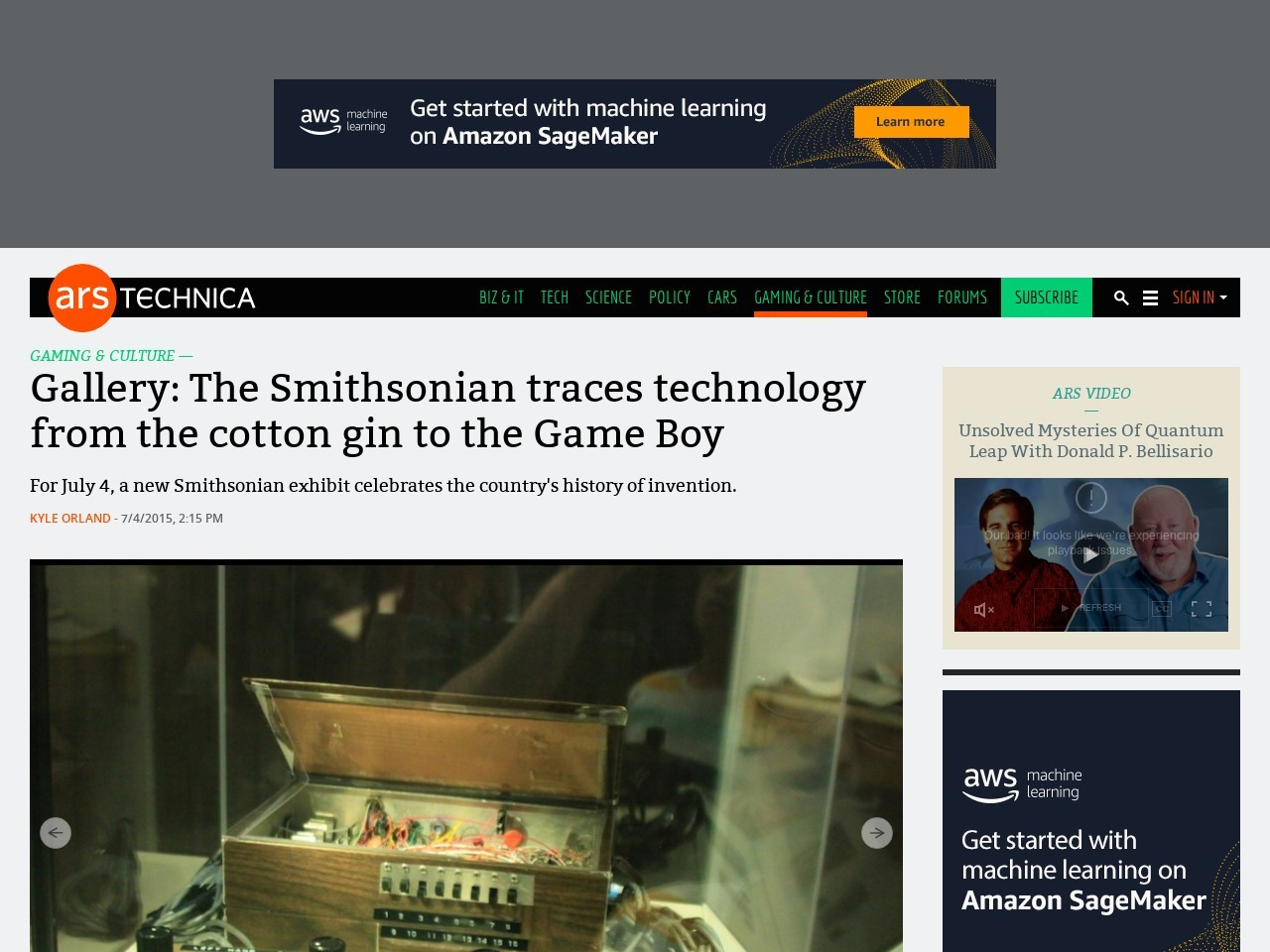 Gallery: The Smithsonian traces technology from the cotton gin to the Game Boy