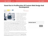Stand out in Proliferation of Custom Web Design and Development