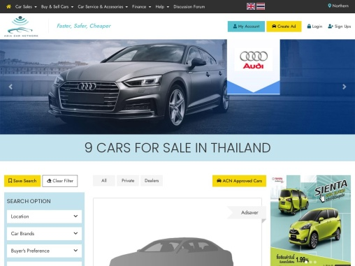 New car as a Preference of Many People in Thailand