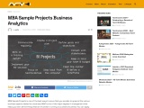 MBA Sample Projects Business Analytics