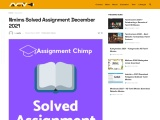 Nmims Solved Assignment December 2021