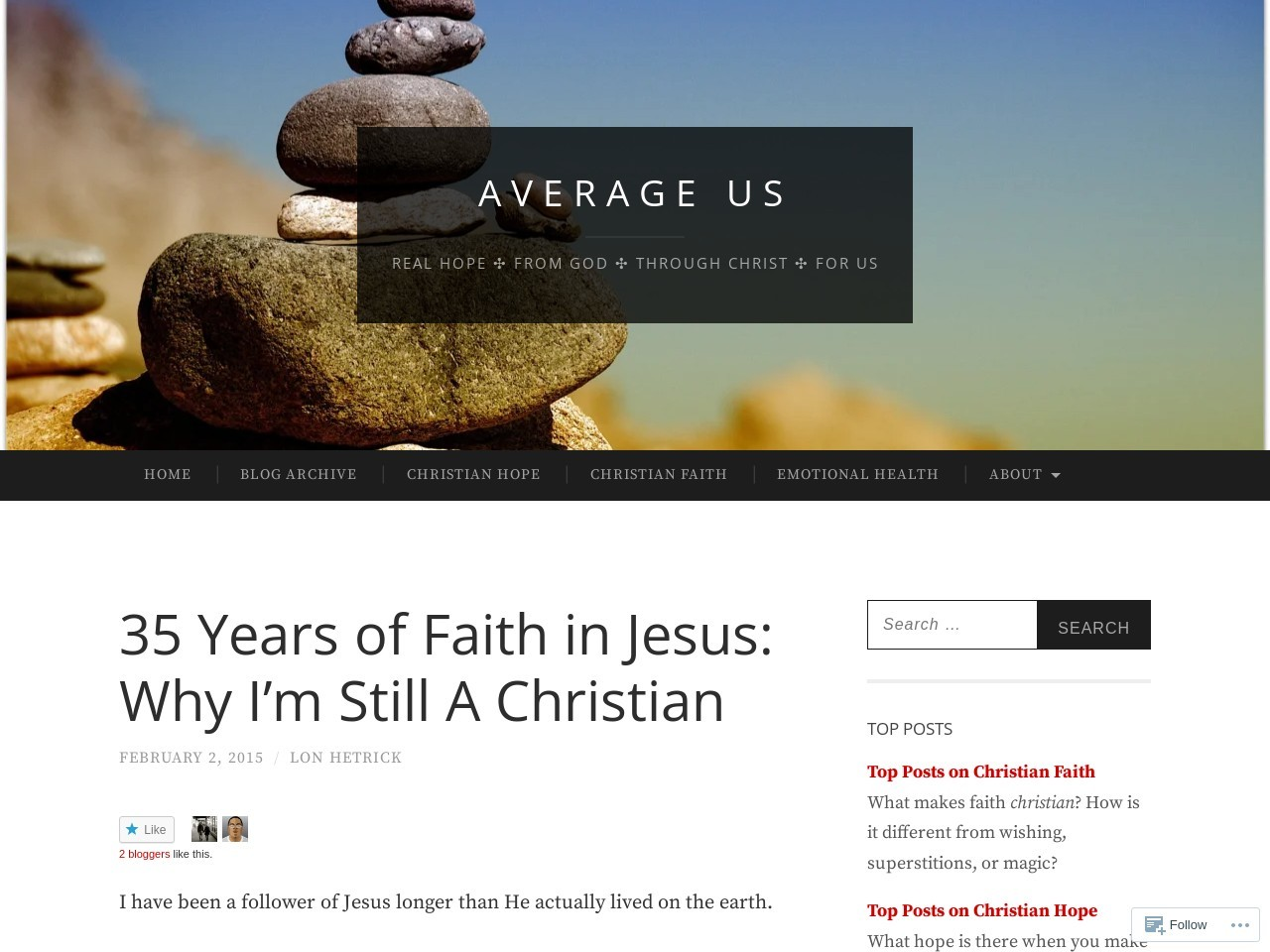 35 Years of Faith in Jesus: Why I'm Still A Christian …